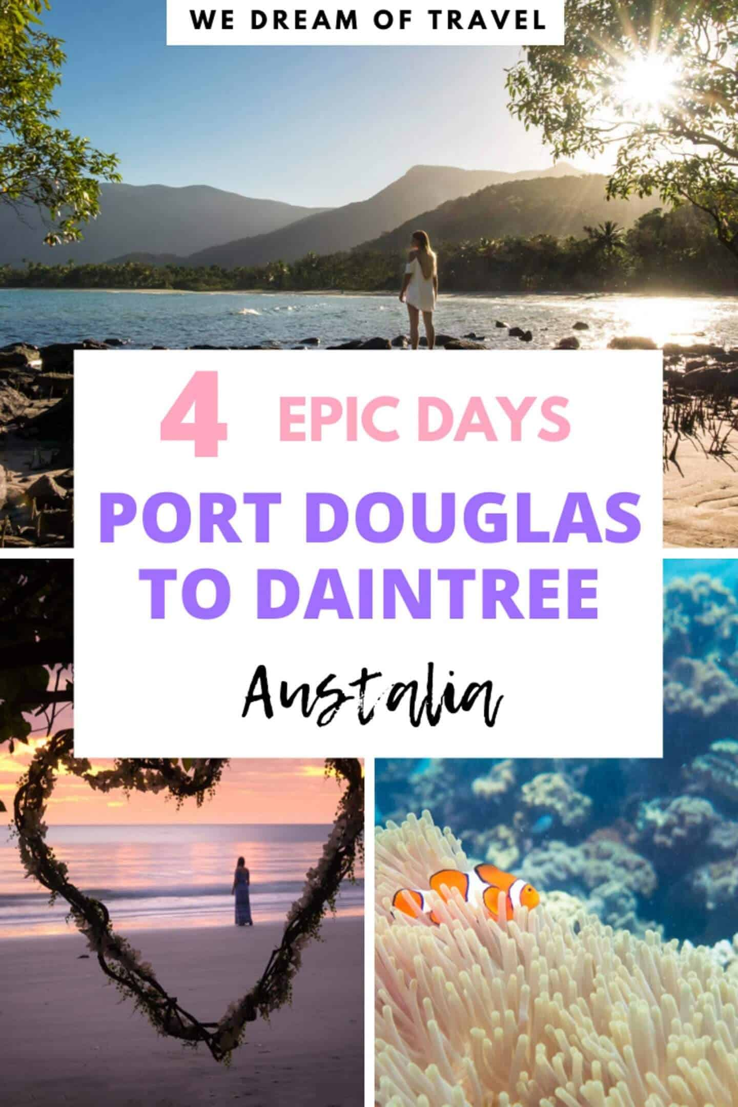 Port Douglas to Daintree 4 day itinerary.  A complete guide on how to spend 4 days in this beautiful part of Queensland, Australia.  Including things to do and where to stay. #portdouglas #daintree #australia