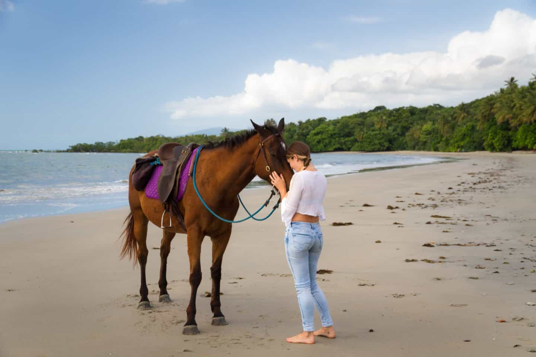 Horse riding at Cape Tribulation, Daintree