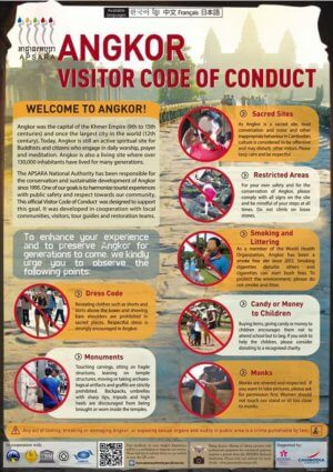 Angkor Wat Visitor Code of Conduct