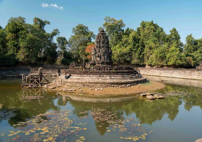 Neak Pean Temple, Angkor, Siem Reap, Cambodia