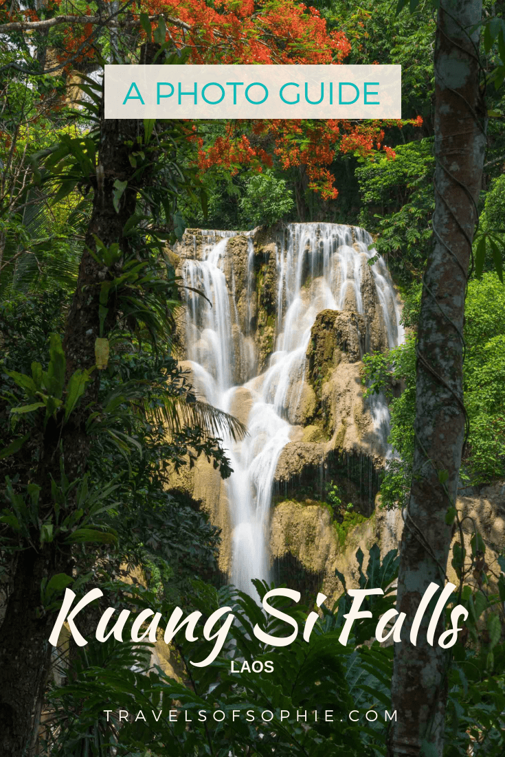A photography guide for Kuang Si Falls. How to take the best photos of this famous waterfall in Laos. #kuangsifalls #kuangsi #photography #photoguide