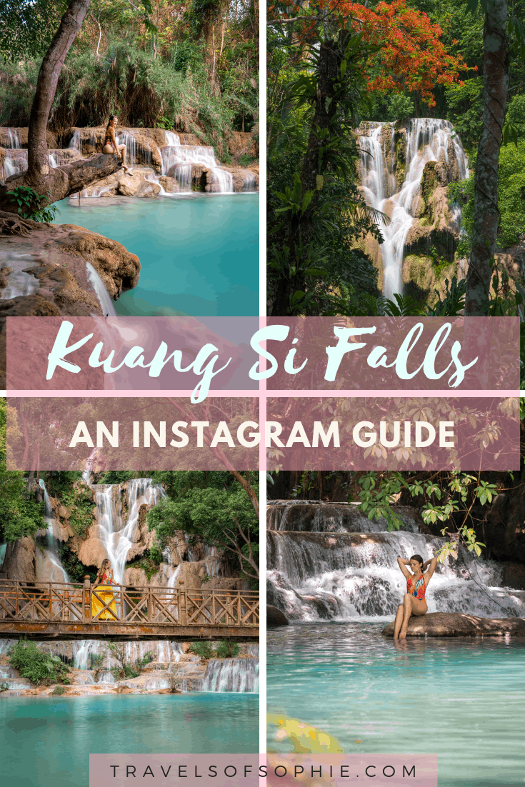 An Instragram guide to Kuang Si Falls.  Everything you need to know to help you get the best photos at these beautiful waterfalls.