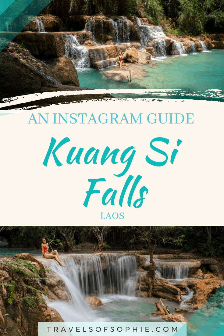 In instagram guide to Kuang Si Falls in Laos.
