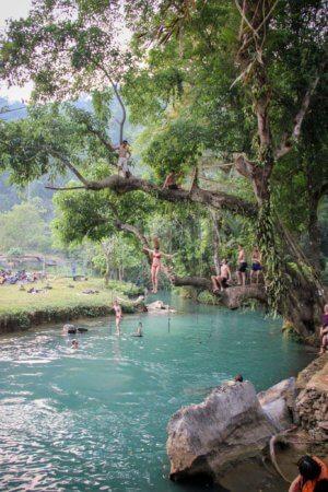 Blue Lagoon Vang Vieng Photos