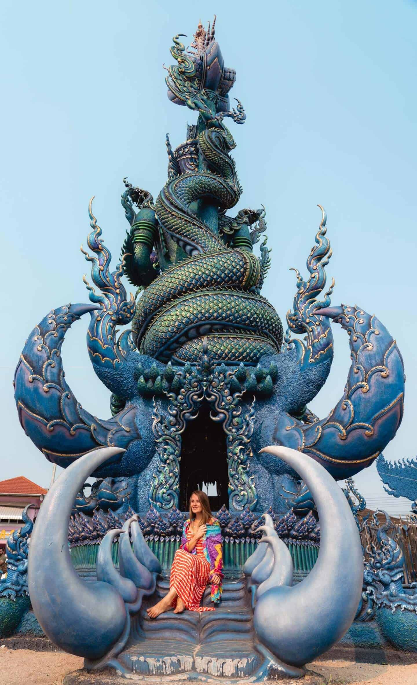An interesting side temple at the Blue Temple in Chiang Rai.