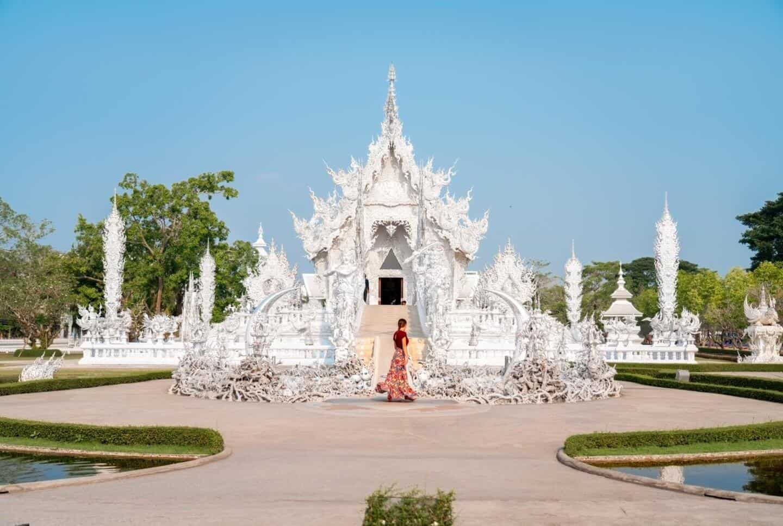Early morning at Wat Rong Khun White Temple Chiang Rai