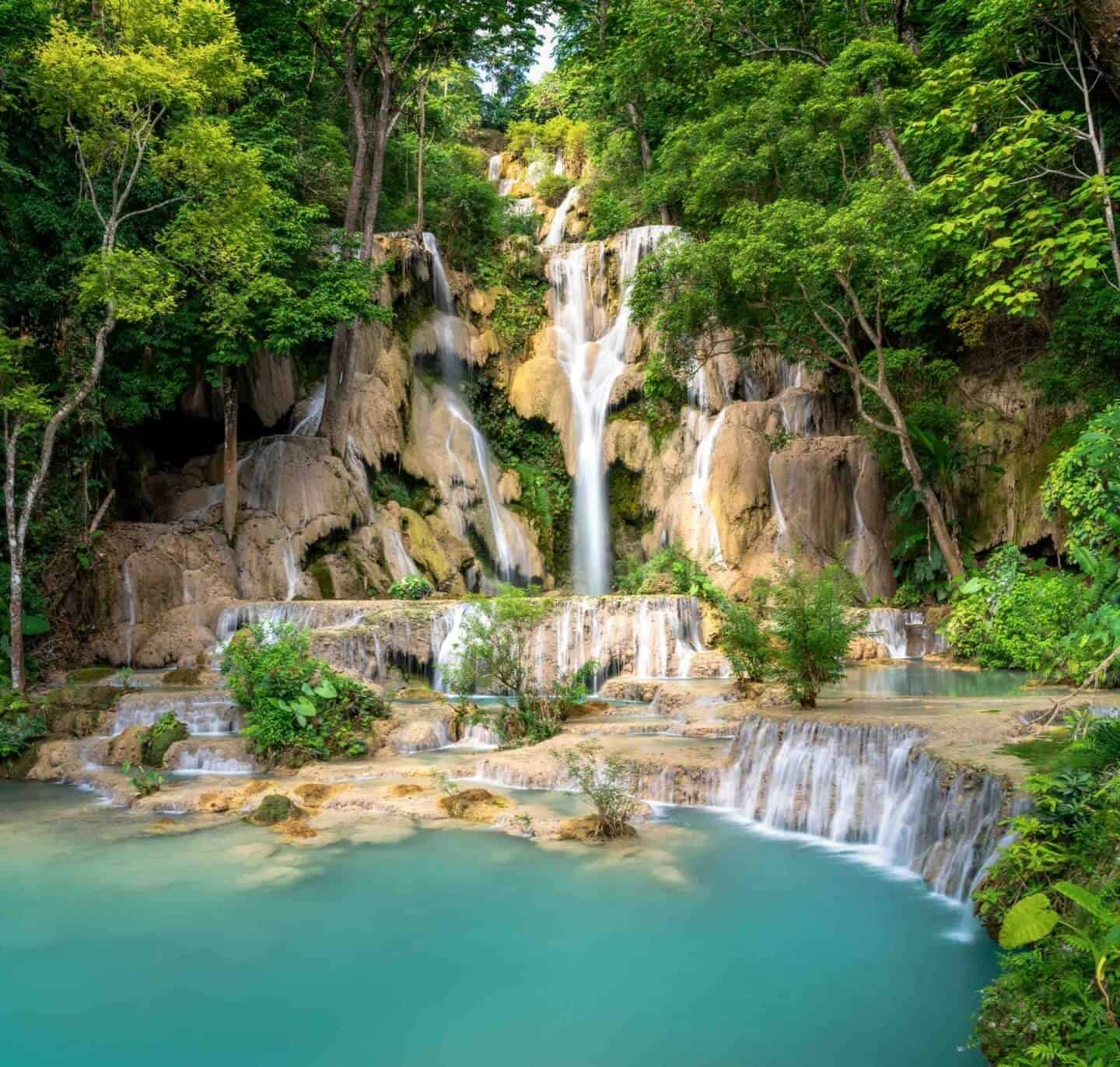 My absolute favorite waterfall in the world; the Kuang Si Waterfall is a genuine miracle of nature!