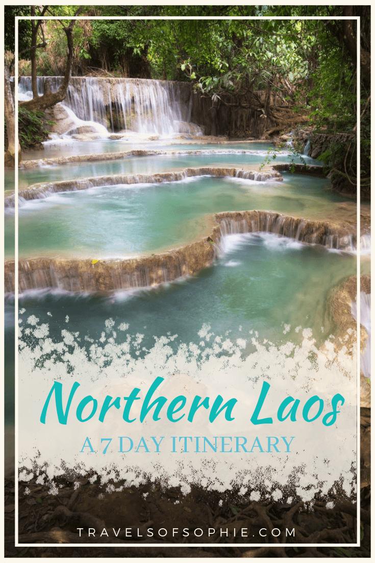Northern Laos Itinerary: A Travel Guide. A full 7 day itinerary from Luang Prabang to Vang Vieng #vangvieng #luangprabang #laos