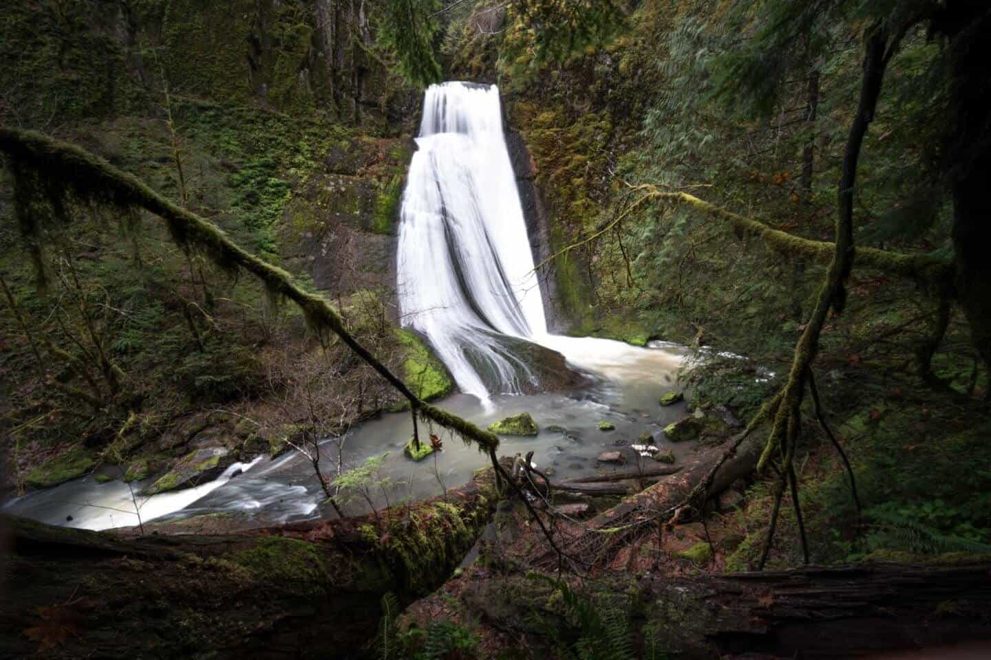 Wolf Creek Falls outside of Roseburg in Southern Oregon.