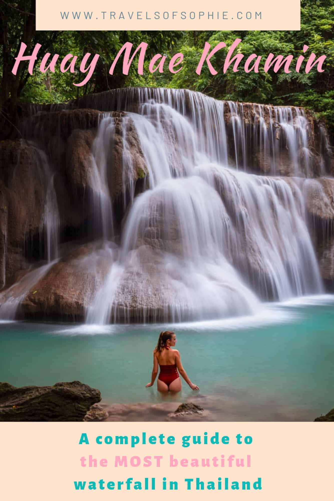 Huay Mae Khamin Waterfall: A complete guide to the best waterfall in Thailand.  Discover everything you need to know about this hidden gem outside of Kanchanaburi.