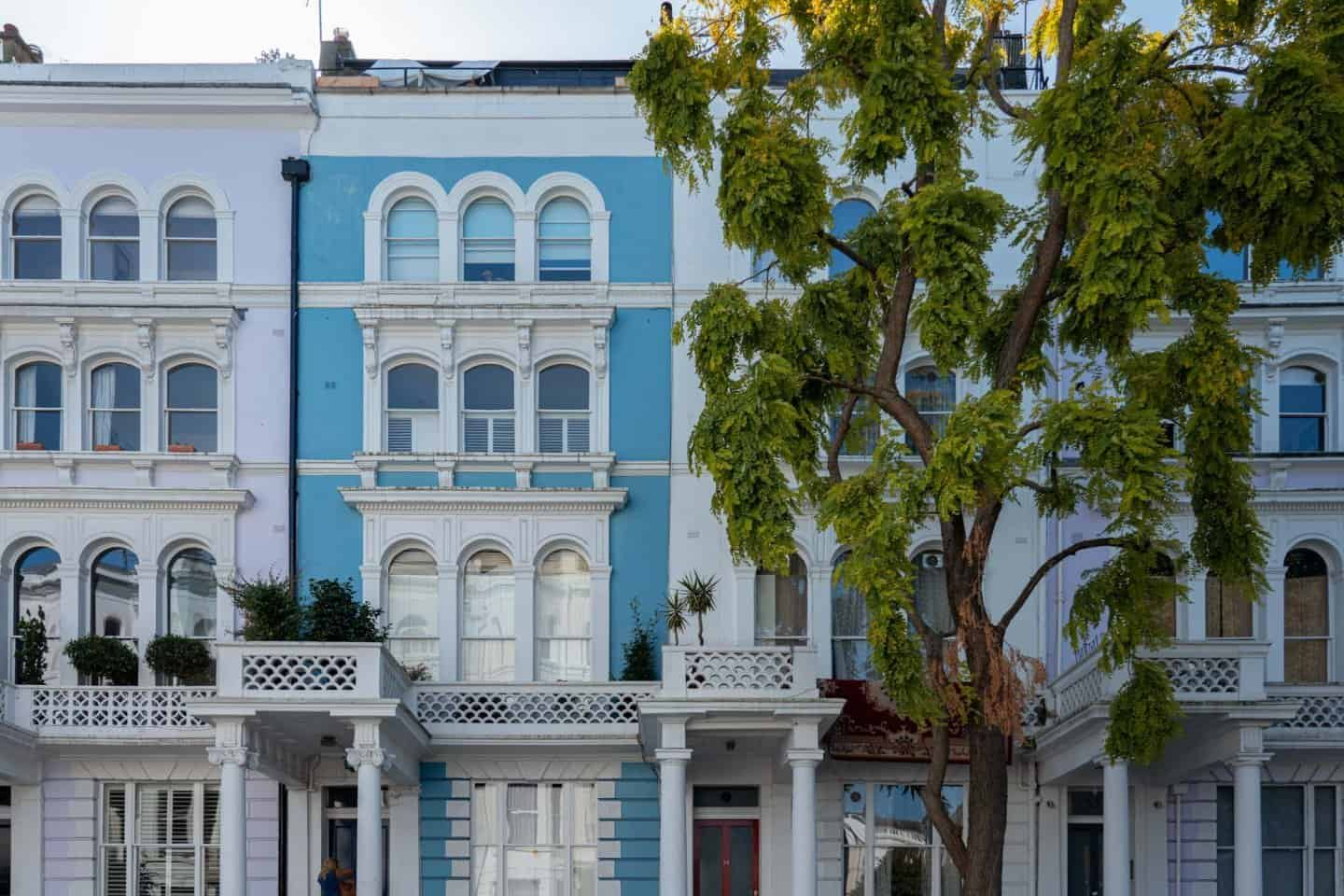 Colville Terrace Colorful Houses Notting Hill