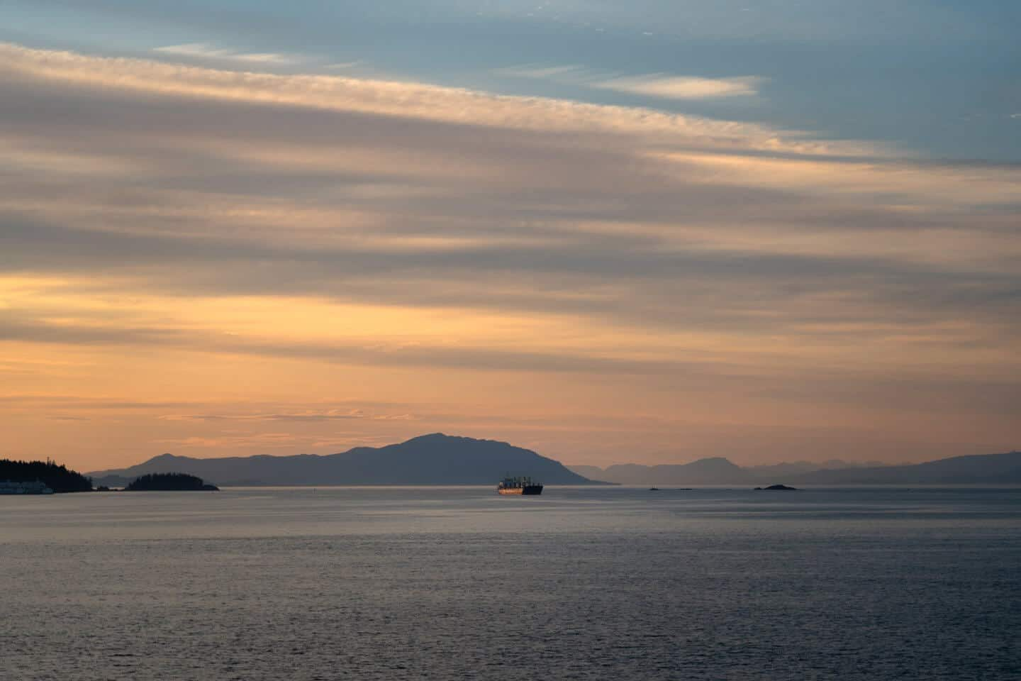 The Duke Point ferry to Vancouver Island provides one amazing sunset show