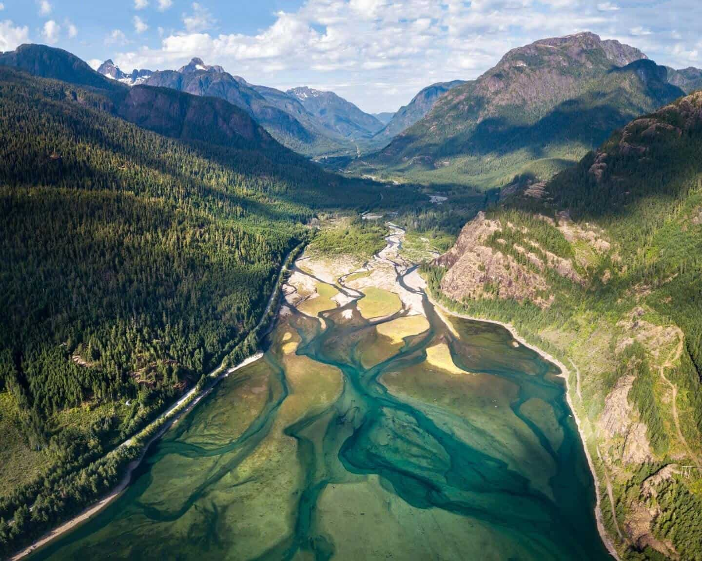 Perhaps the best photo in all of Vancouver Island, this is the Elk River from the sky!