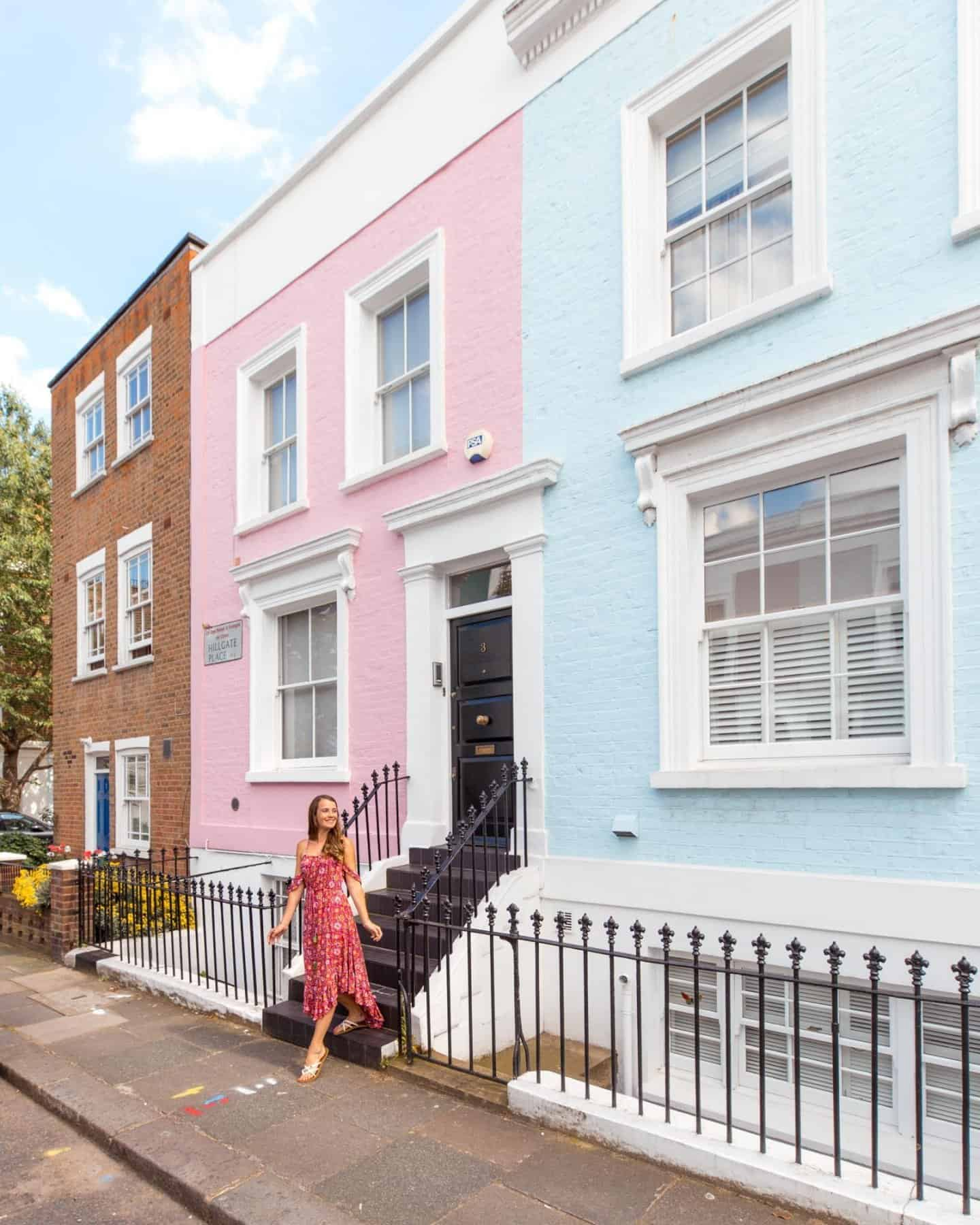 Farmer Street, Notting Hill pink and blue house