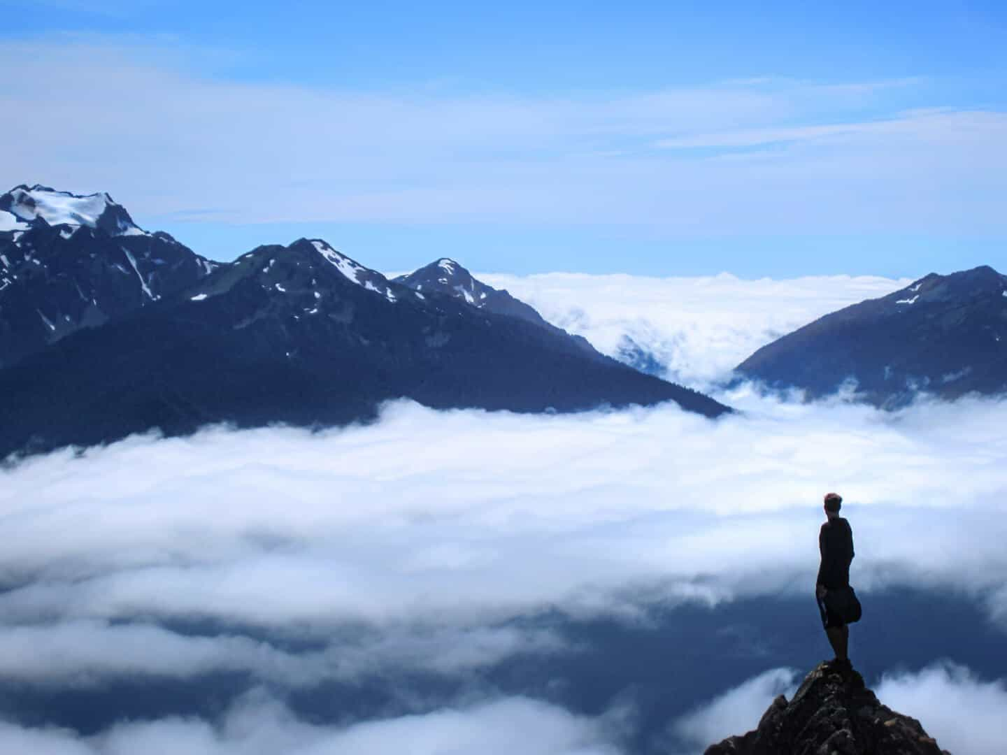 Standing above the clouds felt like a dream at Hurricane Ridge, Olympic National Park.