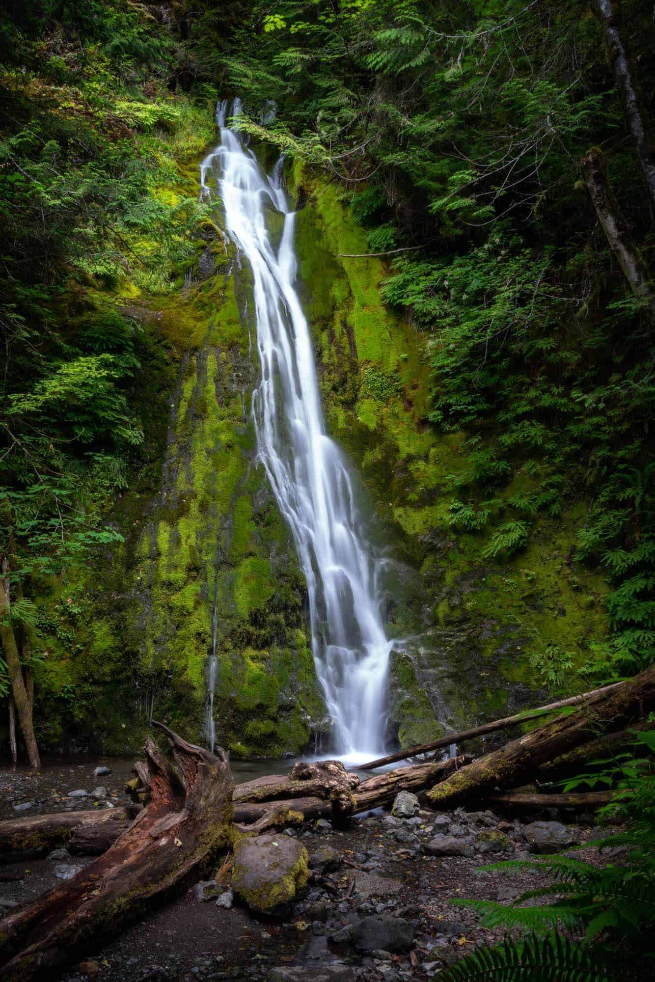 The small but idyllic Madison Falls of Olympic National Park