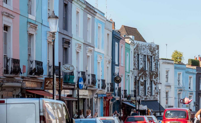Portobello Road - Notting Hill Colorful Houses
