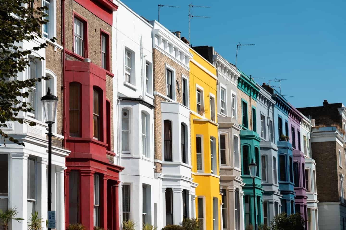 Visiting the rainbow coloured houses in Notting Hill should be on everyone's London bucket list.