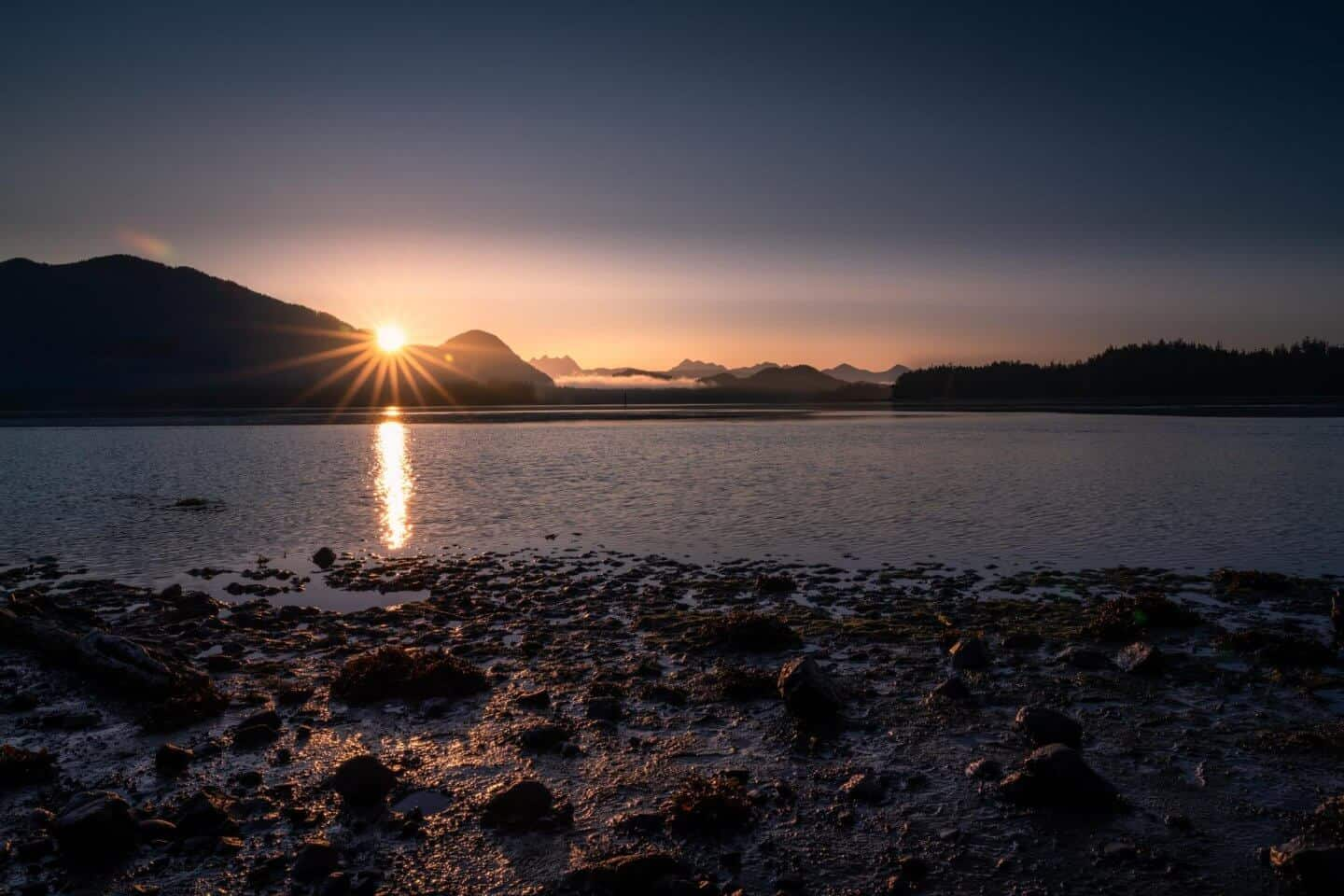 Sunrise from the Tofino Mud Flats