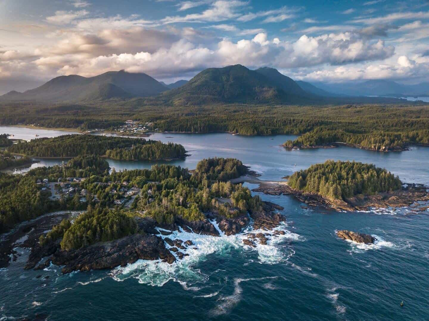 Aerial photography of Vancouver Island, British Colombia