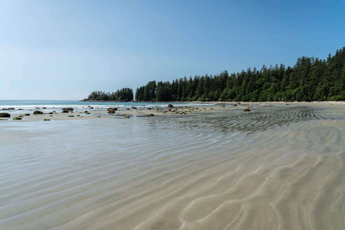 The beautiful, pristine beaches of Tofino begin with the secluded Wickaninnish Beach.