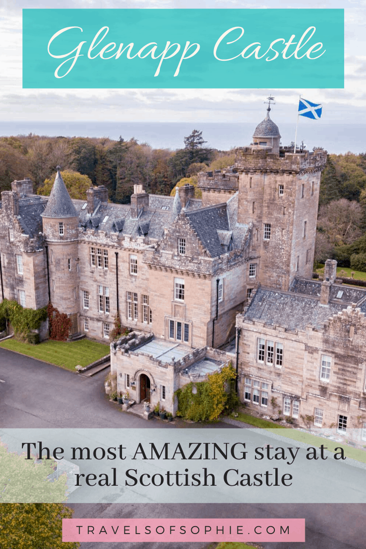 If, like me, you've always dreamed of staying at a castle then you have to stay at Glenapp Castle in Ayrshire, Scotland. This 5 star castle hotel is the perfect place for a magical castle vacation. #castlesinscotland #scottishcastles #scotland #5starhotel #luxuryhotel