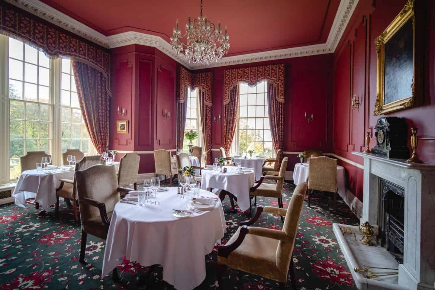 One of the dining rooms at Glenapp Castle