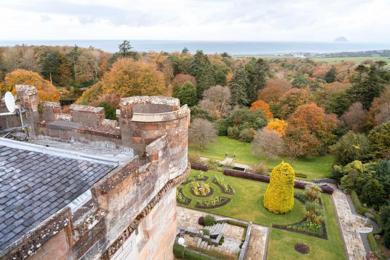 Stunning garden and coastal views from Glenapp Castle