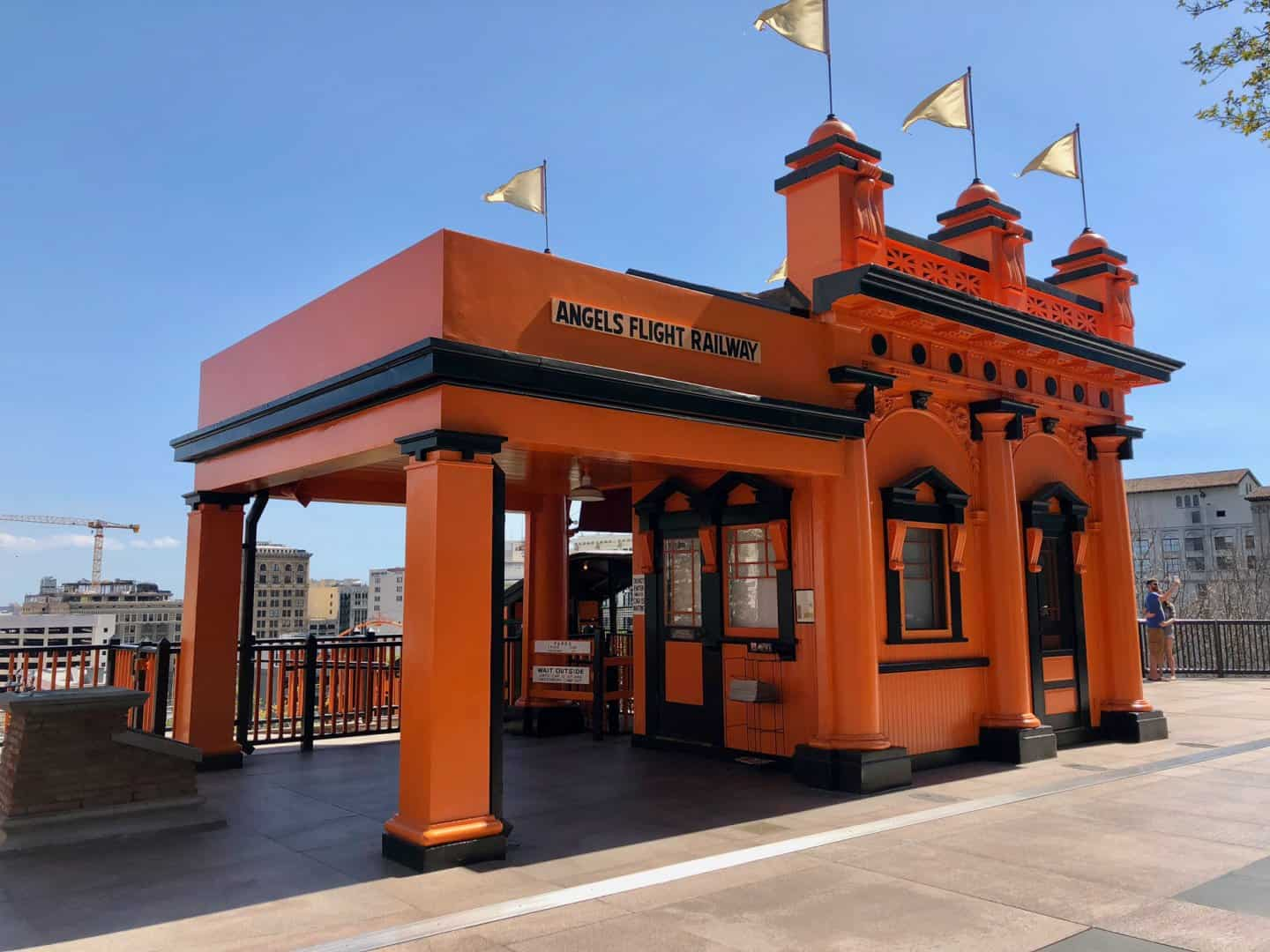 The entrance to Angels Flight Railway, Los Angeles