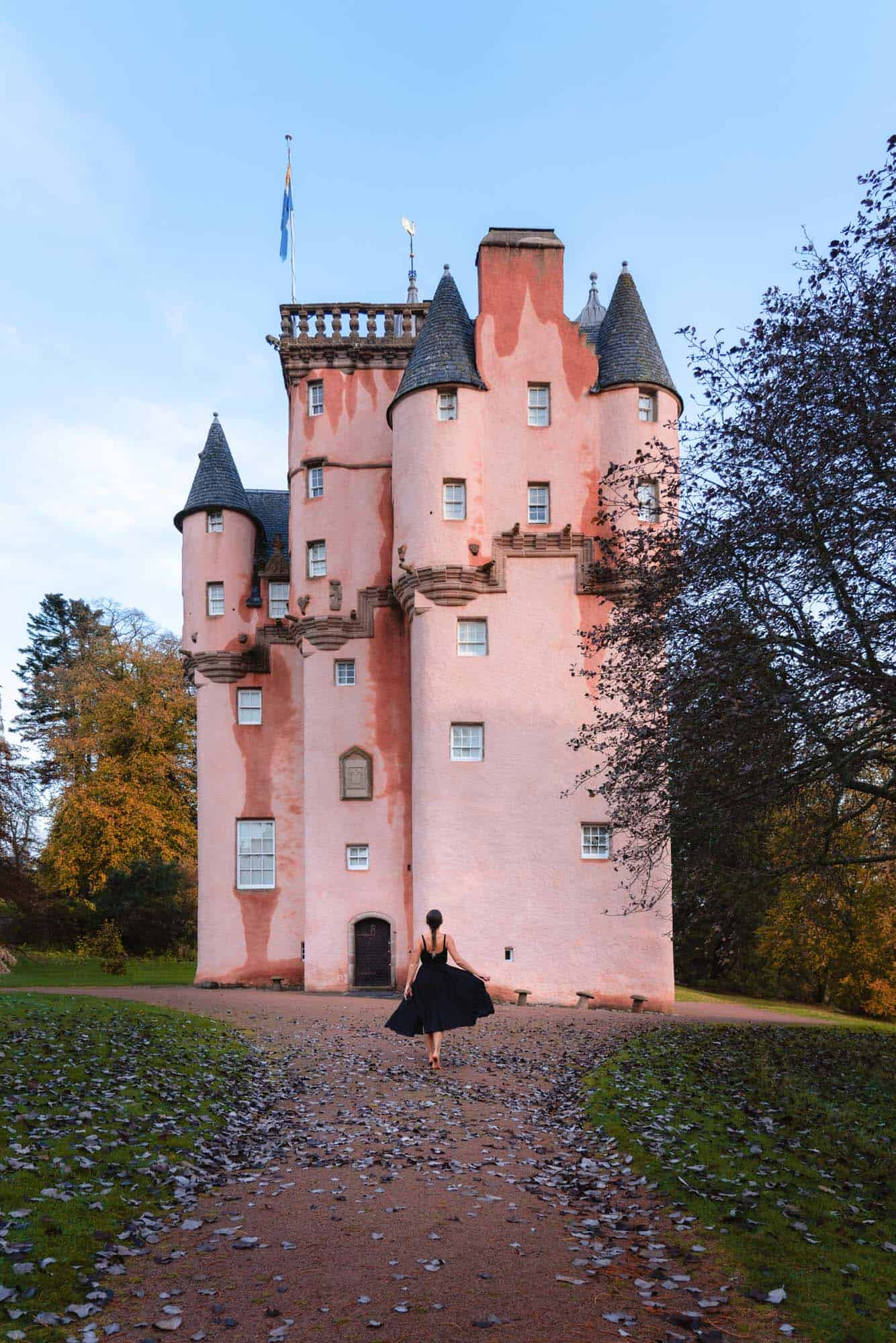 Standing in front of one of the best castles in Scotland; Craigievar Castle, aka the Cinderella Castle.