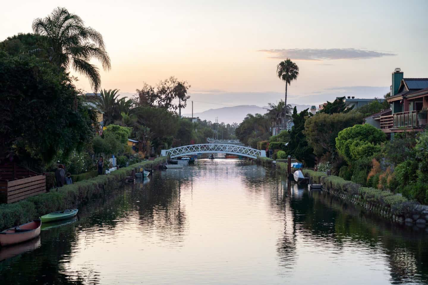 Los Angeles bucket list - Venice Canals at sunset