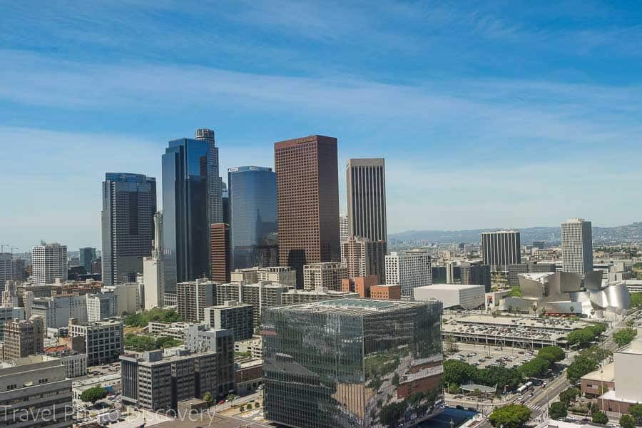 An image from downtown of the LA skyline