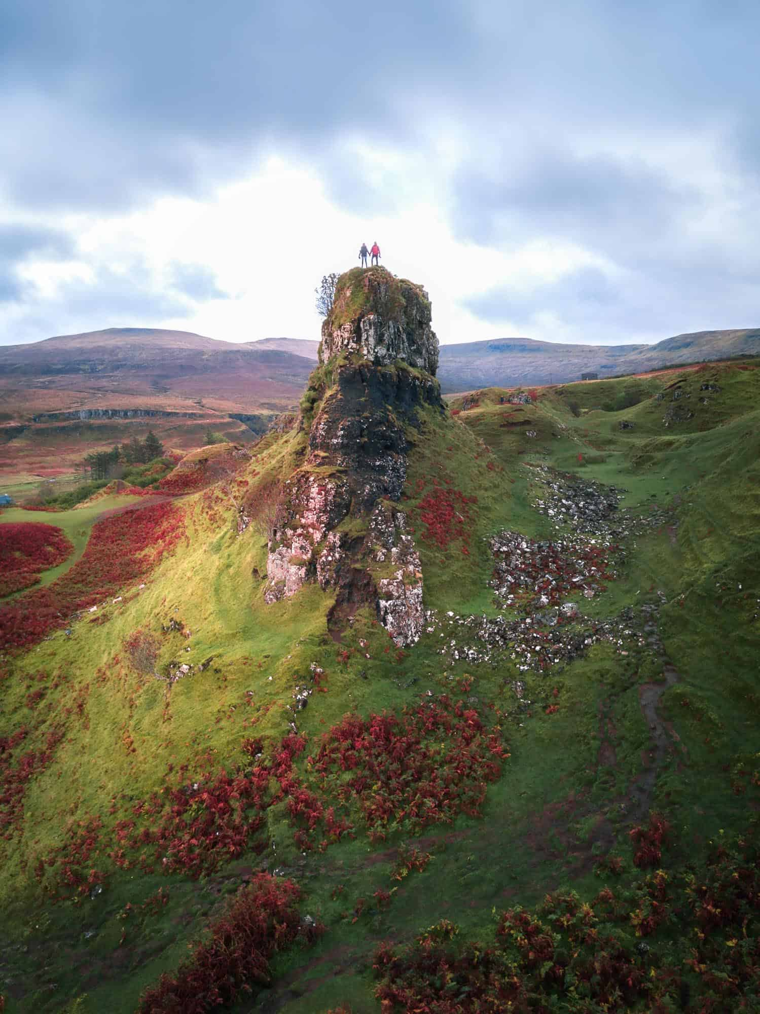 Day 2 on the Isle of Skye two day tour from Edinburgh includes a stop at the amazing Castle Ewan at Fairy Glen.