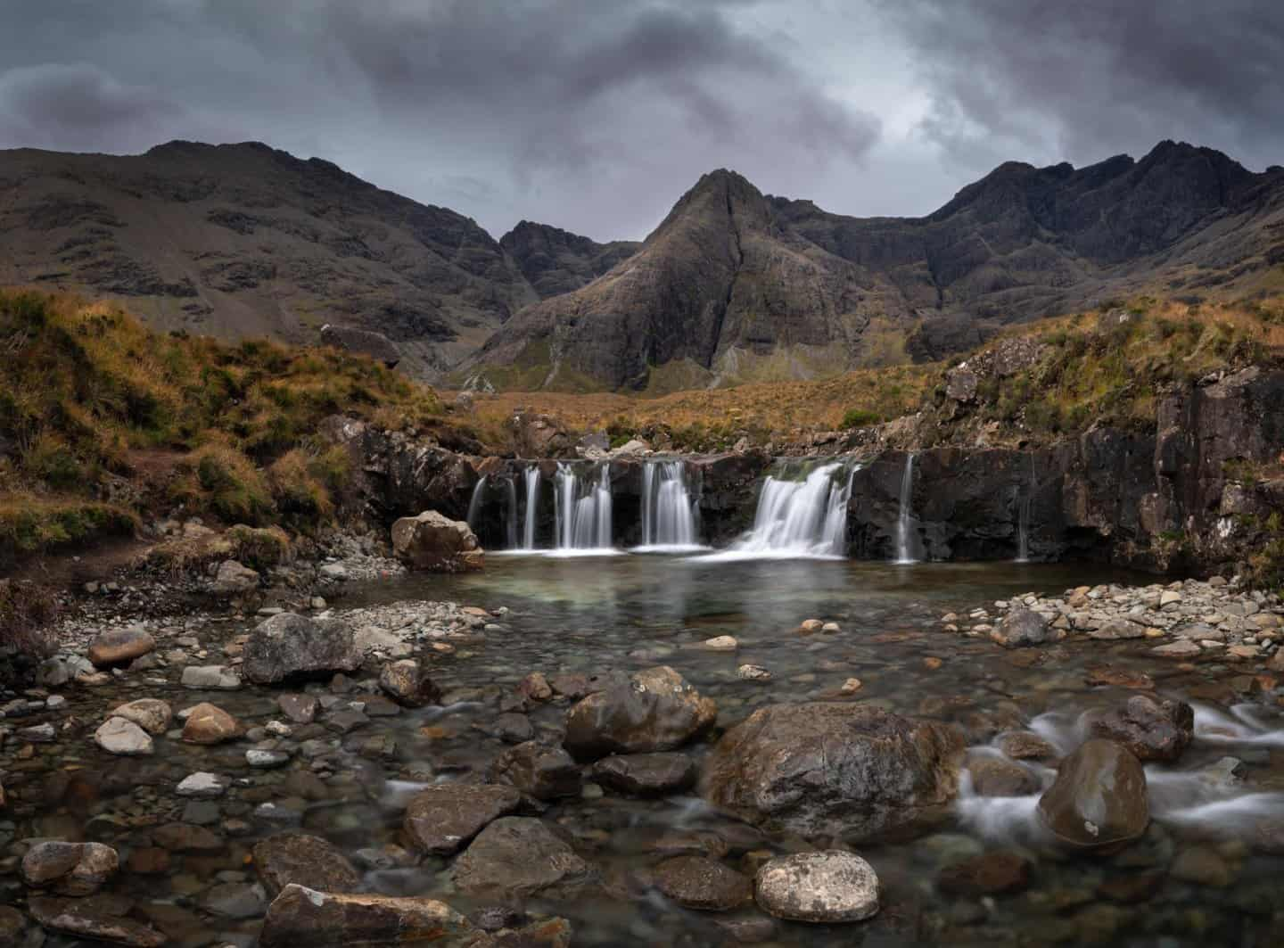 10 Days in Scotland does not leave much time for the Fairy Pools. This small cascade is probably the most popular spot for photographers at Fairy Pools.