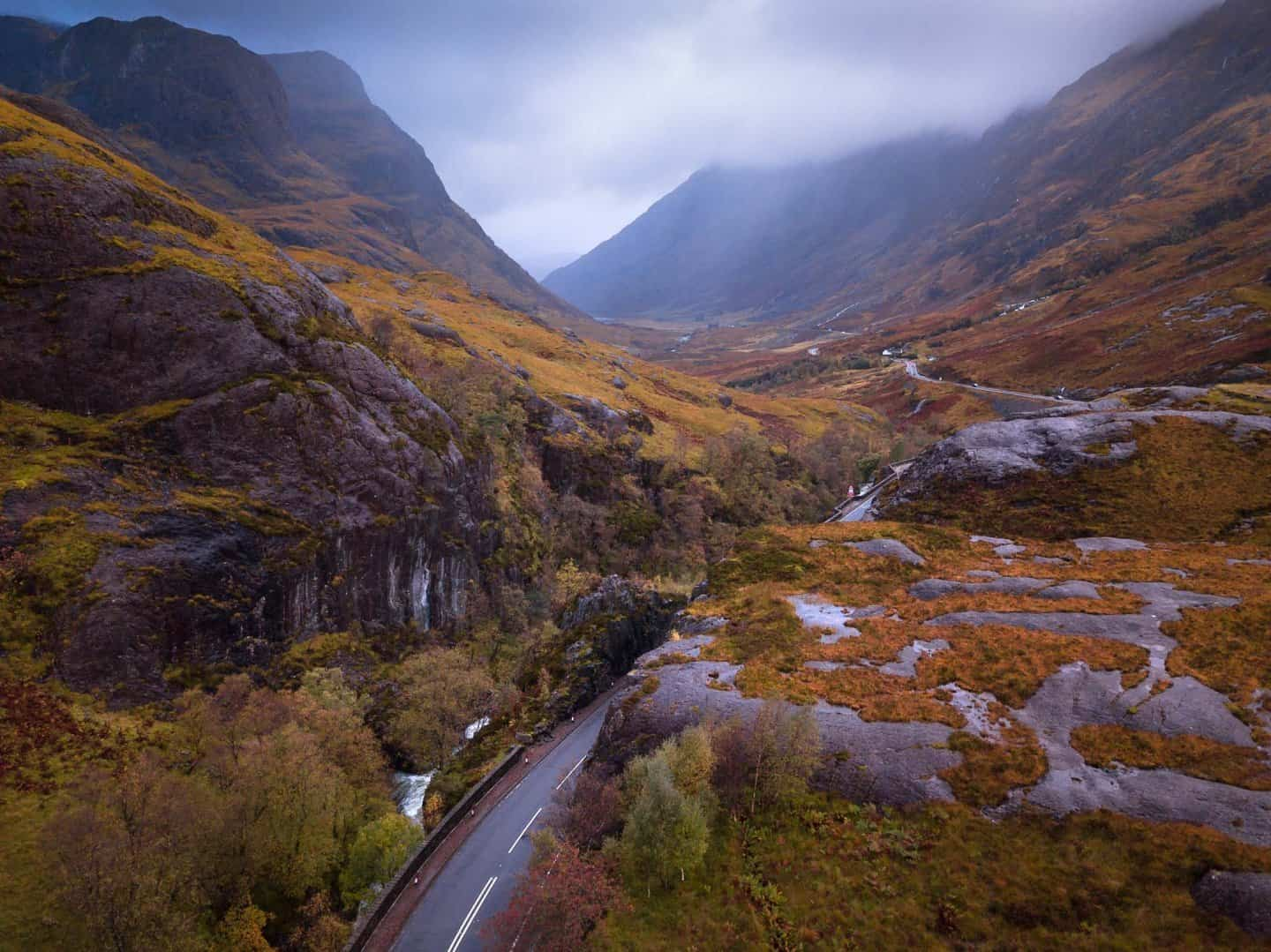 The road through Glencoe is as beautiful as any in Scotland.