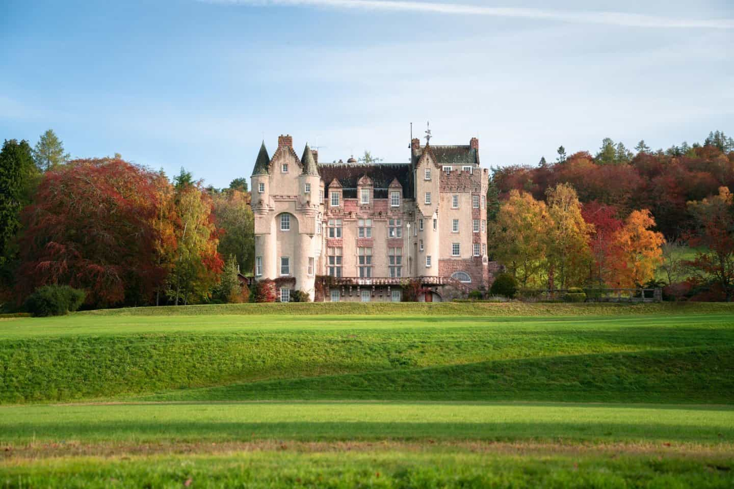 One of the best castles in Scotland; regal Kincardine Castle from the driveway.