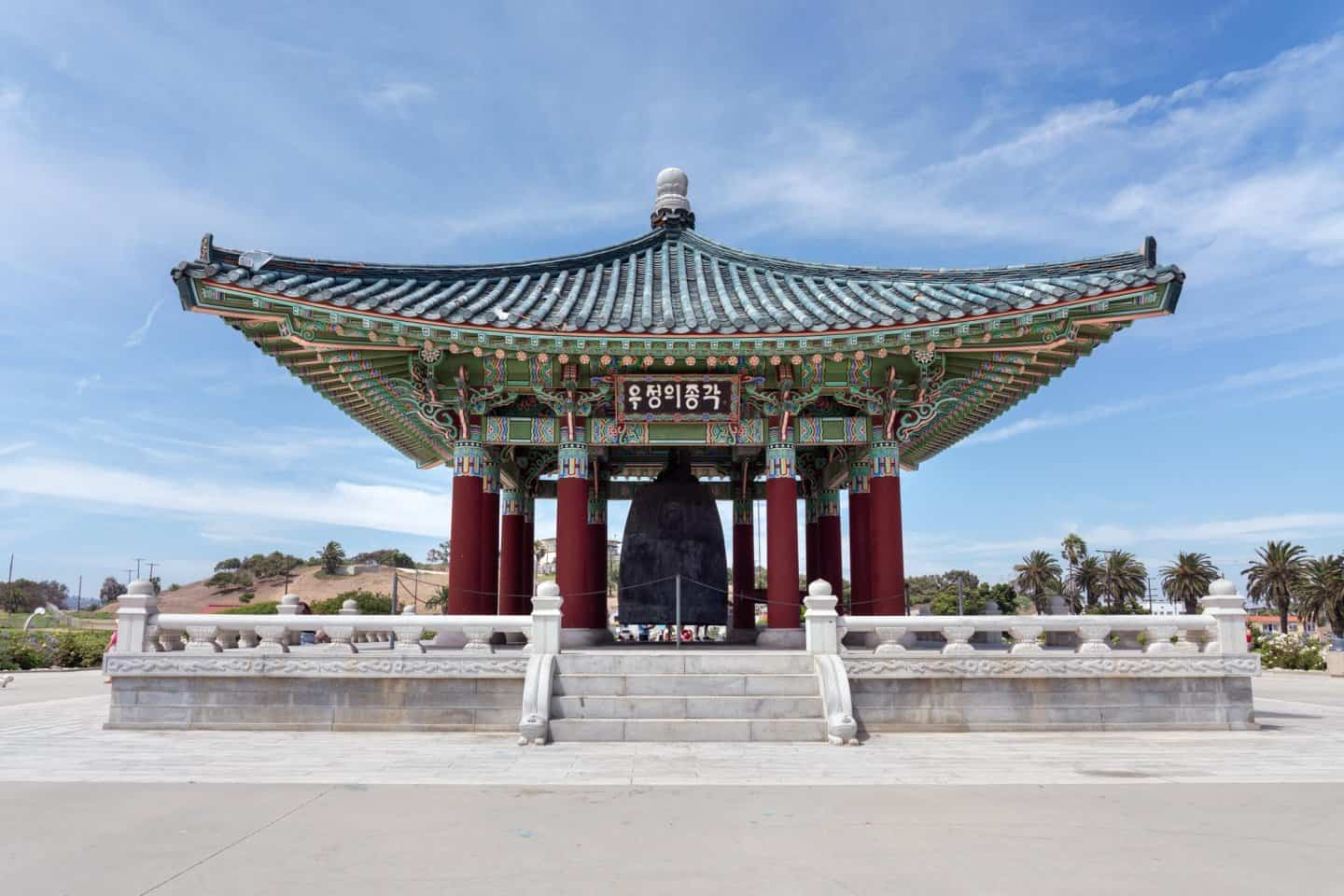 The Korean Friendship Bell in Los Angeles. A hidden gem to add to your LA bucket list