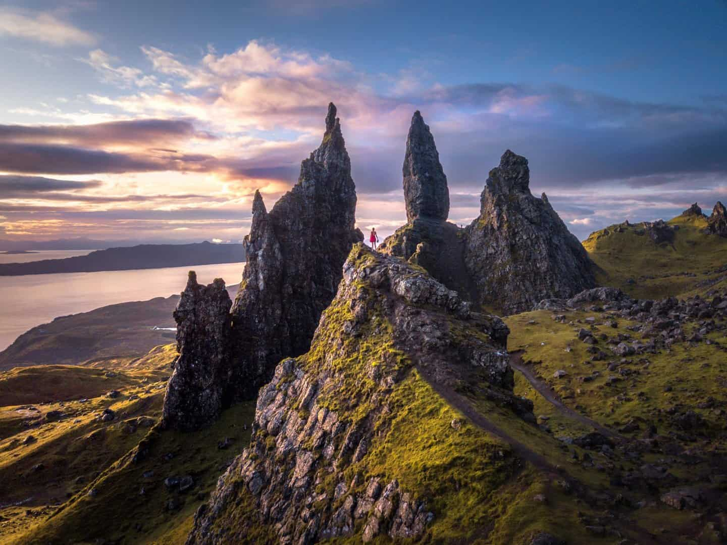 No Isle of Skye 2 day tour from Edinburgh itinerary would be complete without sunrise at The Old Man of Storr.