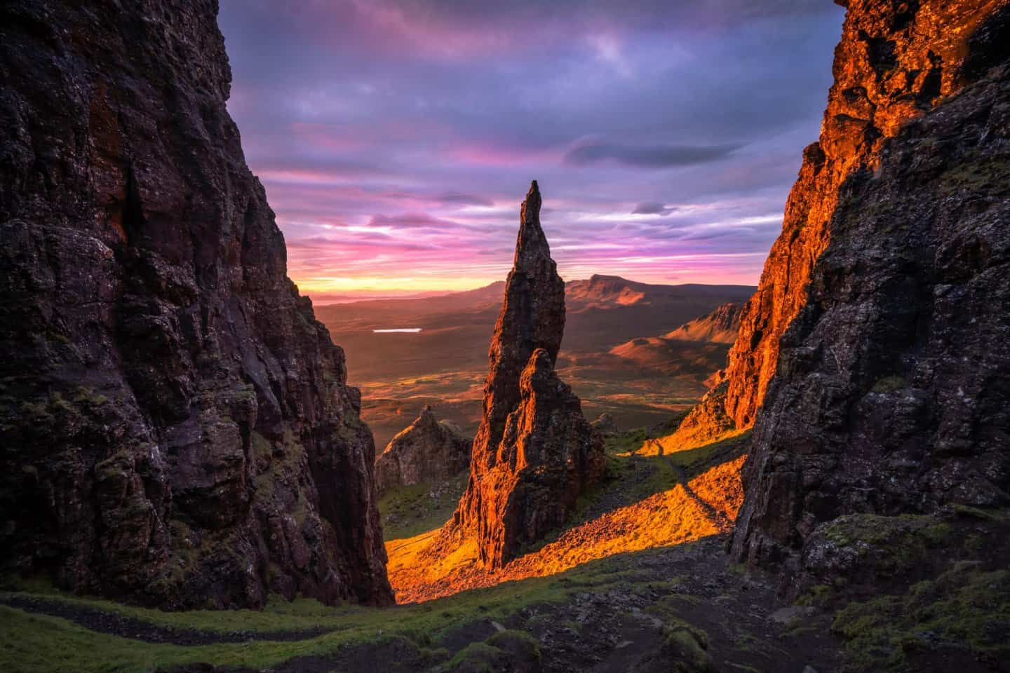 Day 2 on your Isle of Skye 2 day tour from Edinburgh includes a stop at the incredible Needle at Quiraing.