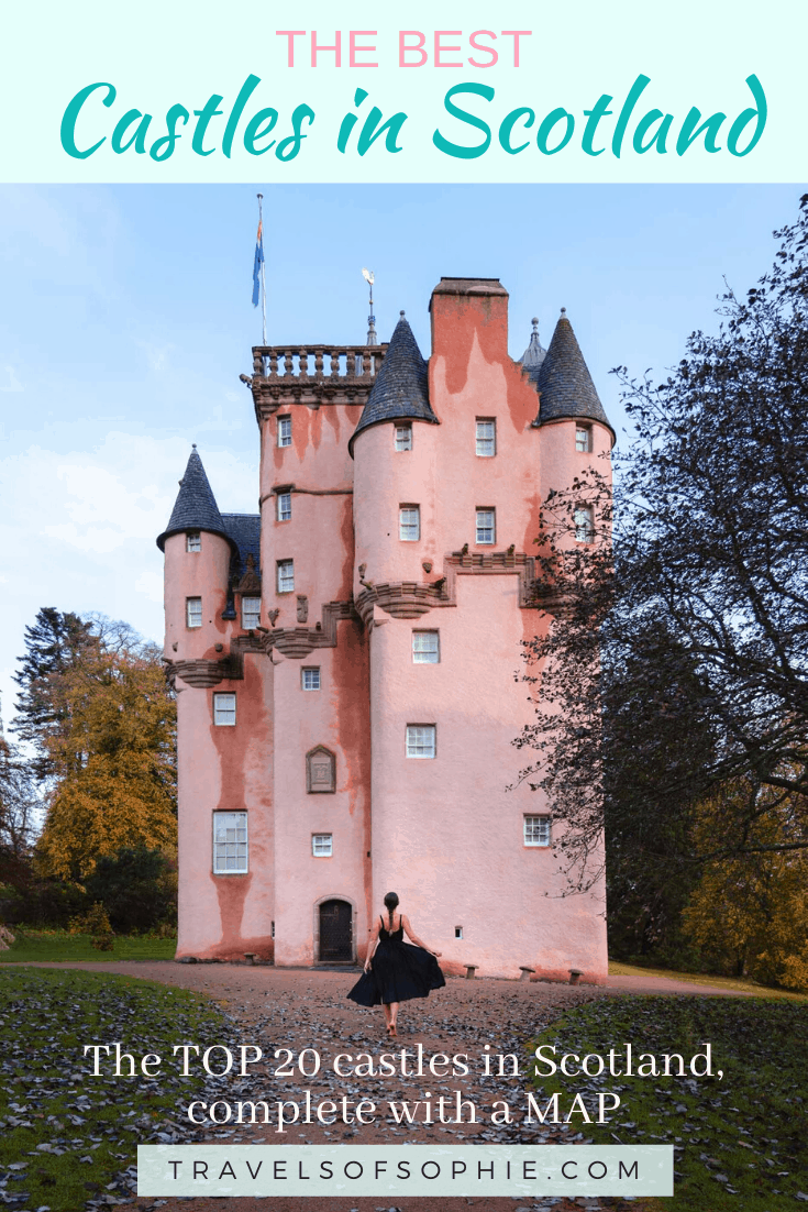 Top 20 Best Castles in Scotland. With over 2000 castles in Scotland, it'd be impossible to visit them all. However, the fairytale-like beauty of these iconic historic treasure should not be missed. To help choose which Scottish castles to visit, I have compiled a list of the TOP 20 castles in Scotland. Including a map to help you plan your Scotland itinerary. #scotland #castles #scottishcastles #travelguide #travelphotography