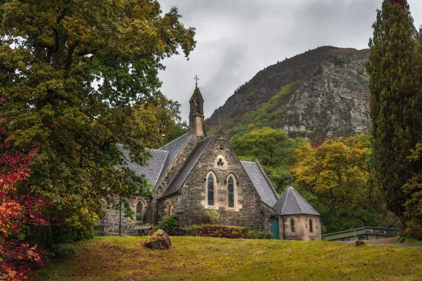 An old church in Loch Lomond and the Trossachs National Park