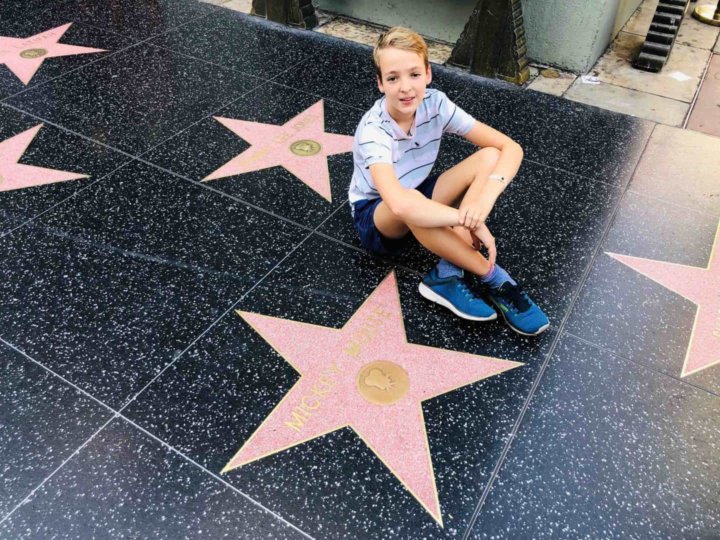 Mickey Mouse star at the Hollywood Walk of Fame