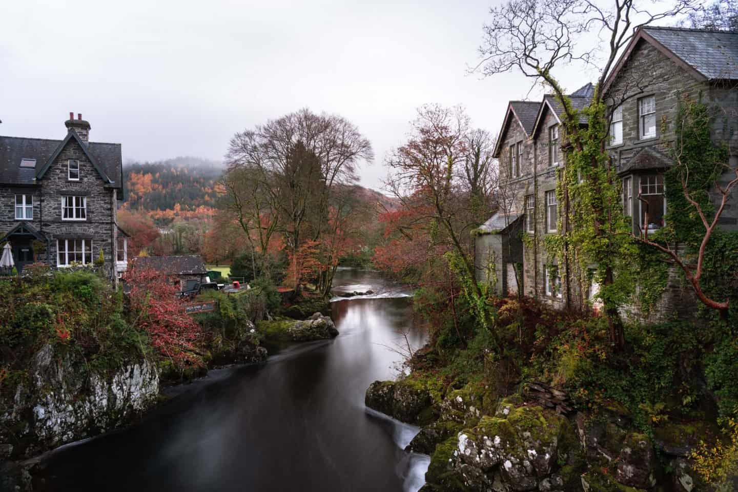 The best Snowdonia photography location for photographing Welsh village life is here at Betws-y-Coed.