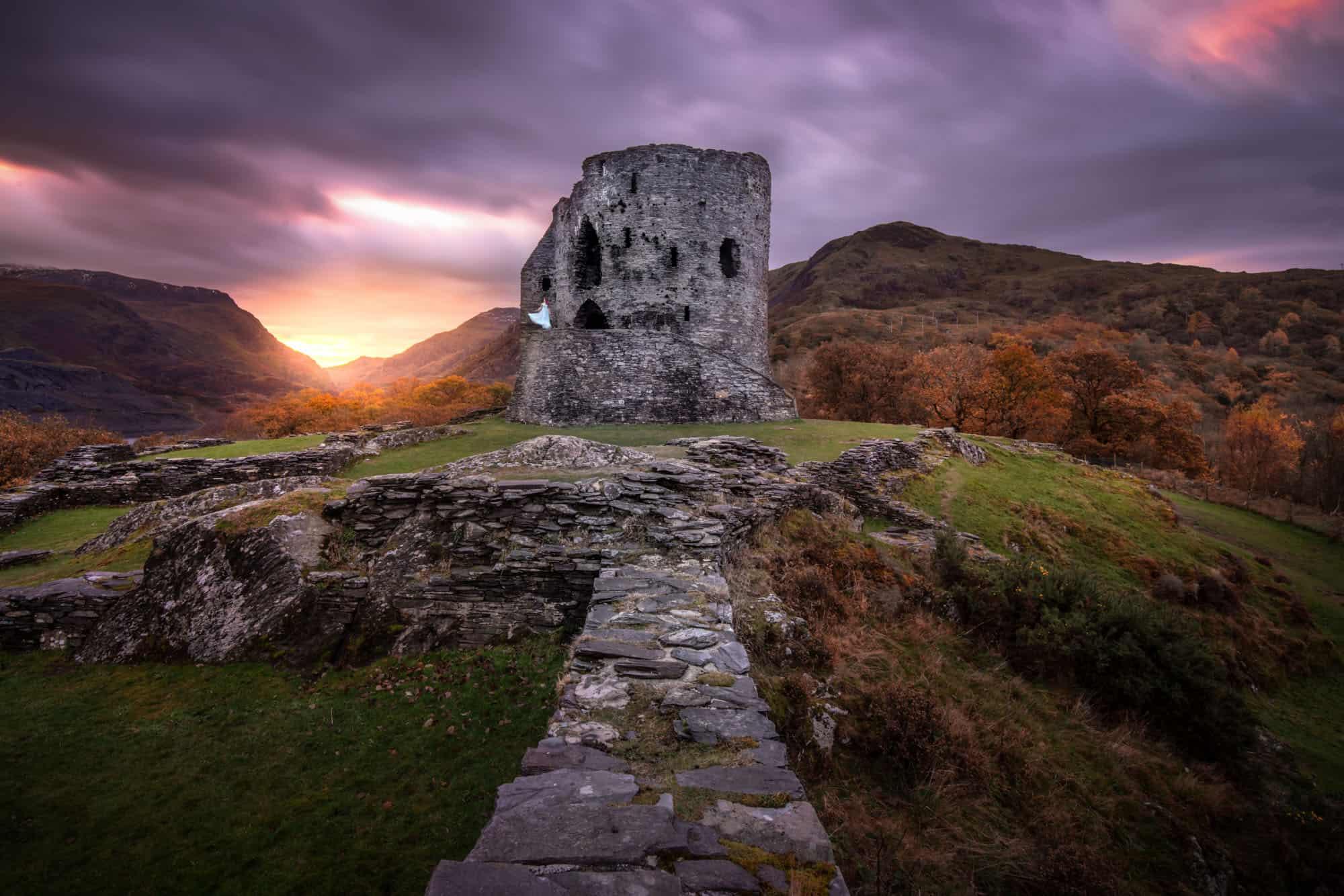 A lesser-know sunrise gem for Snowdonia photography is Dolbadarn Castle near Llyn Padarn.