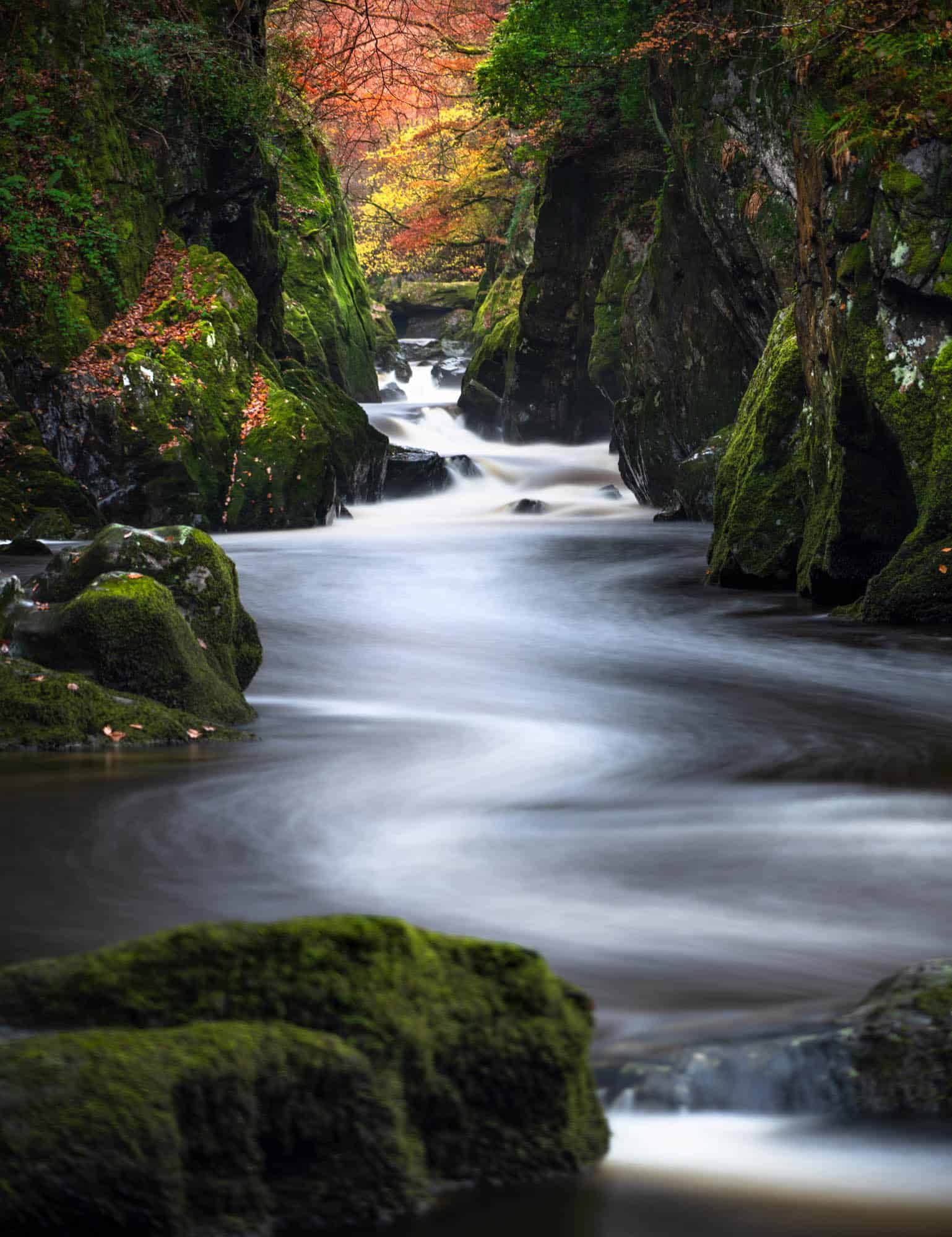 A spot that will one day be an essential on every landscape photographers list of Snowdonia photography locations is the Fairy Glen.