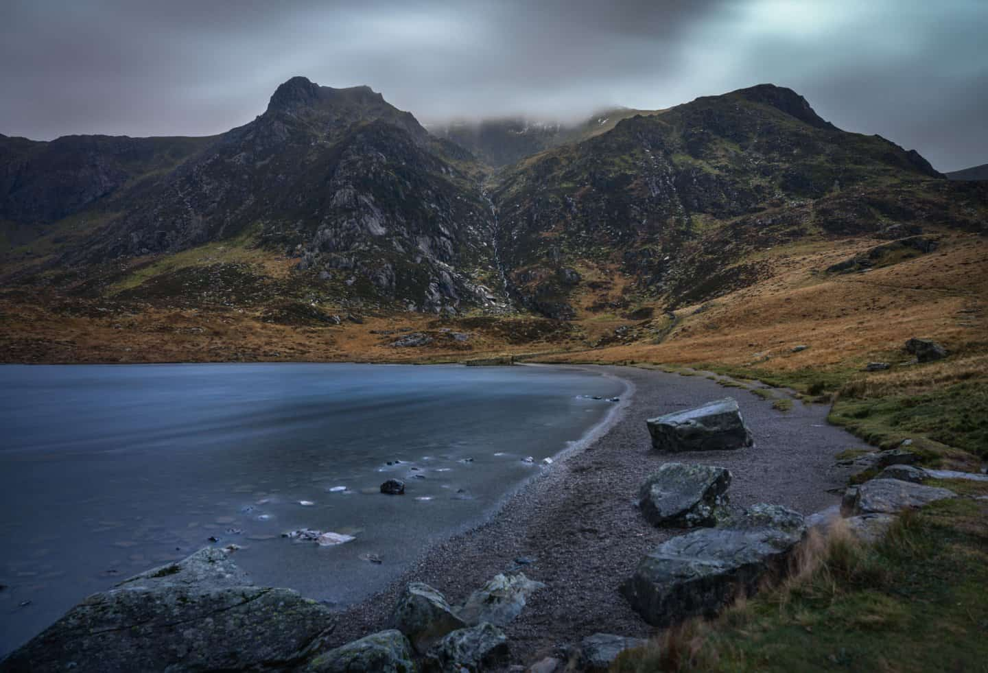 Llyn Idwal is one of the cannot miss Snowdonia photography locations.