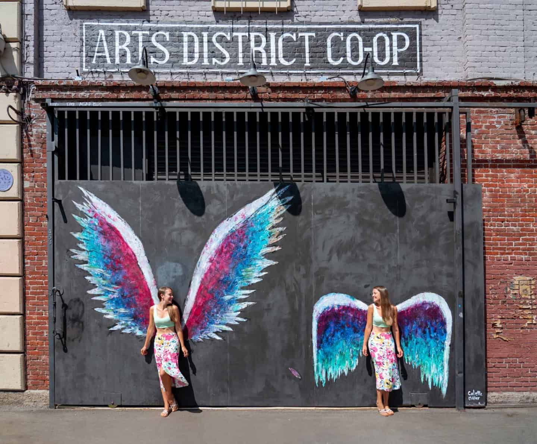 Collette Miller angel mural Los Angeles California