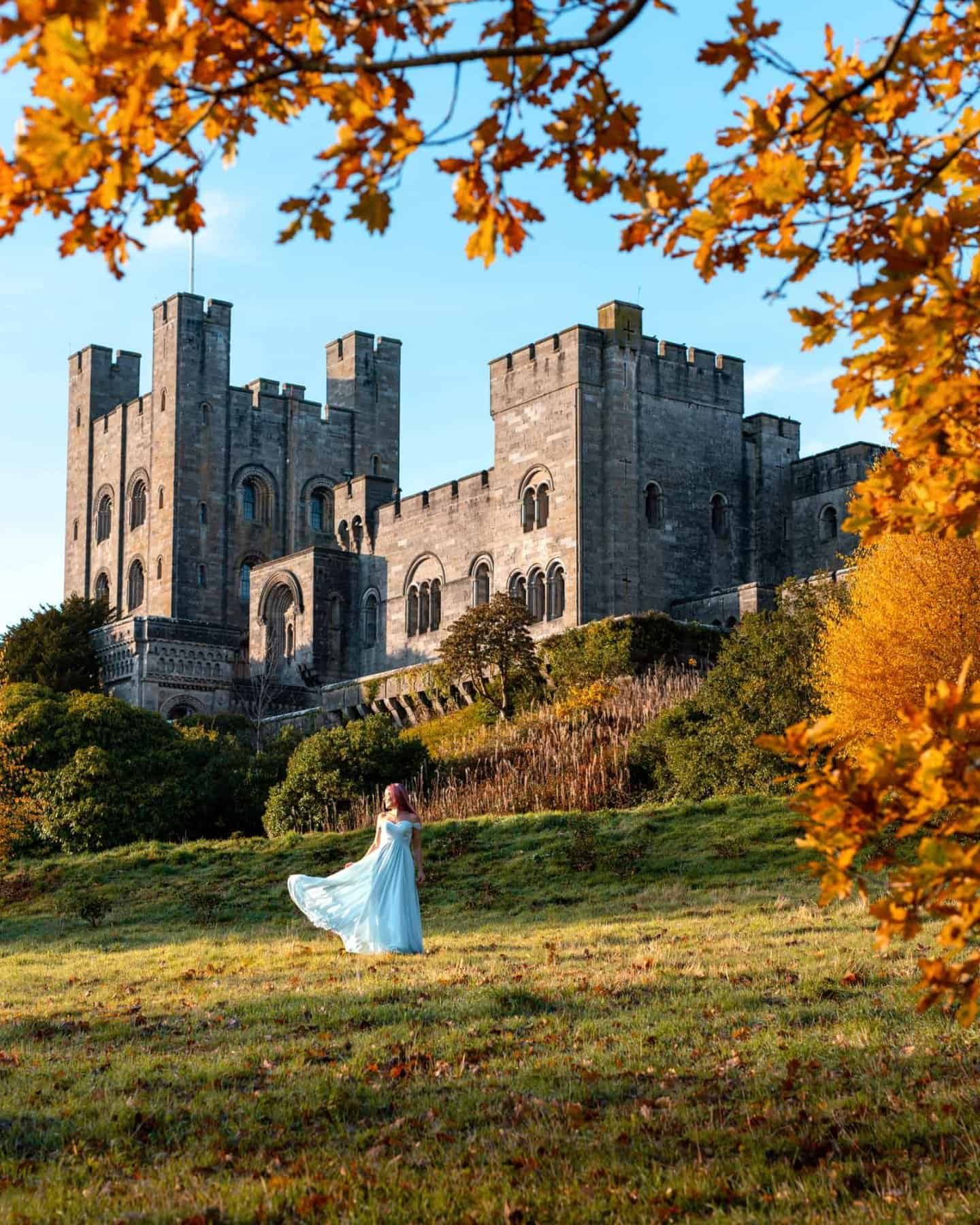 Having another princess moment outside of Penrhyn Castle outside Snowdonia.