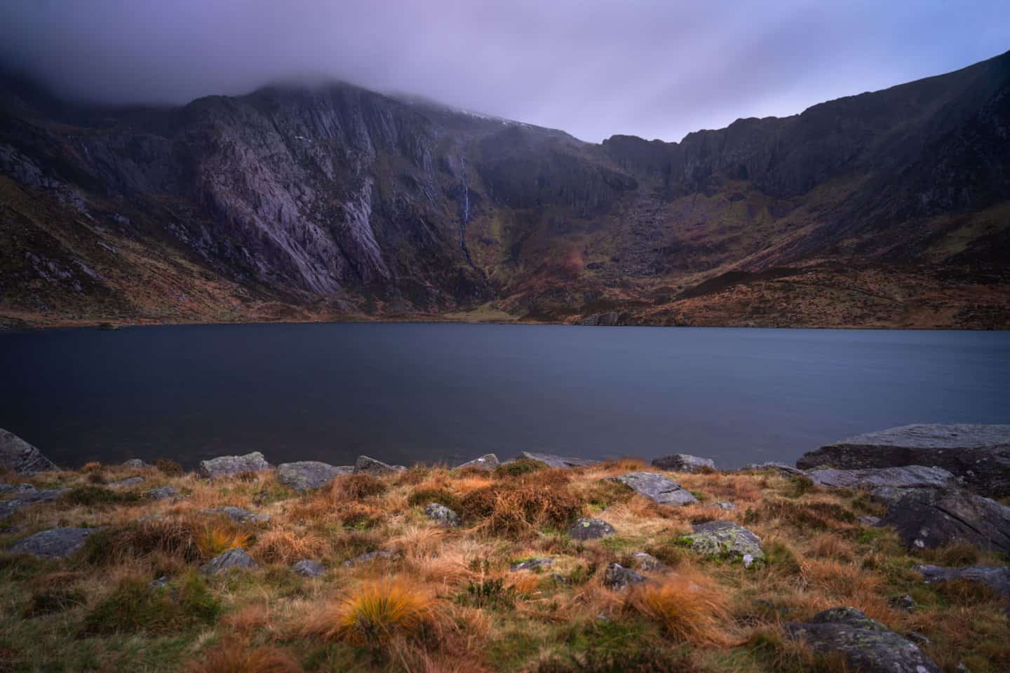 Llyn Idwal is one of many lakes you'll read about in this guide to Snowdonia photography locations.