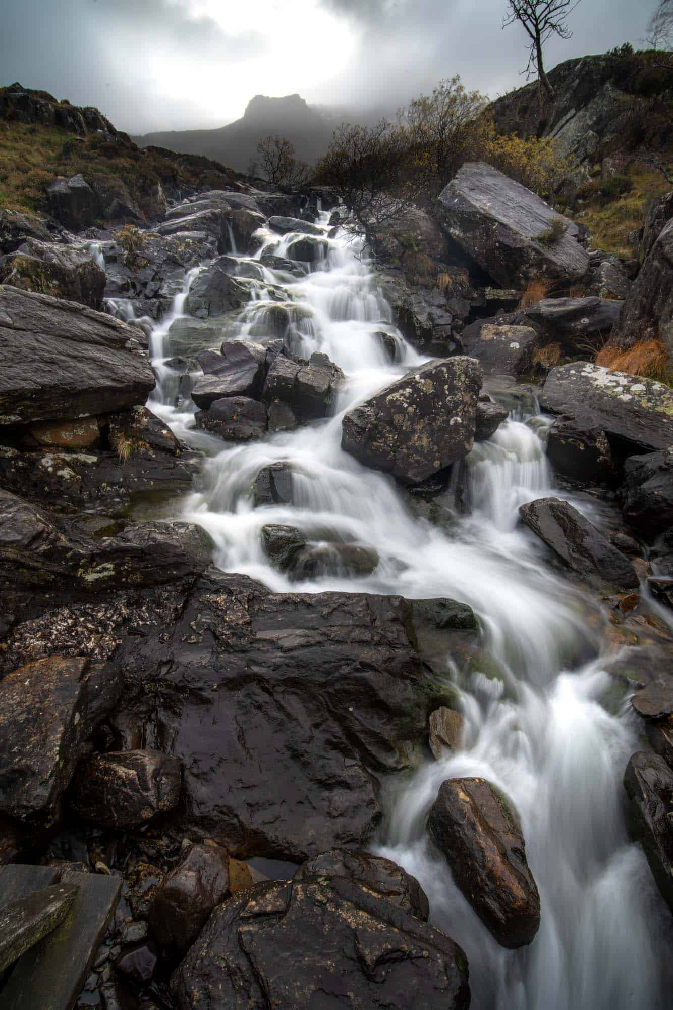 A great opportunity for long exposure photography in Snowdonia is the waterfall near Llyn Idwal..